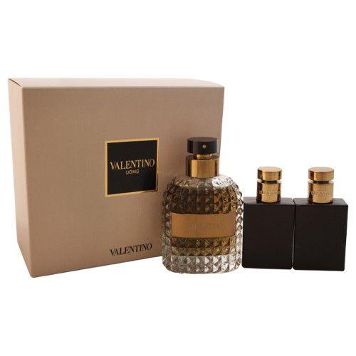Kit Valentino Uomo Valentino - Masculino - Eau de Toilette - Perfume 100ML + Pós Barba 50ML + Gel de banho 50ML