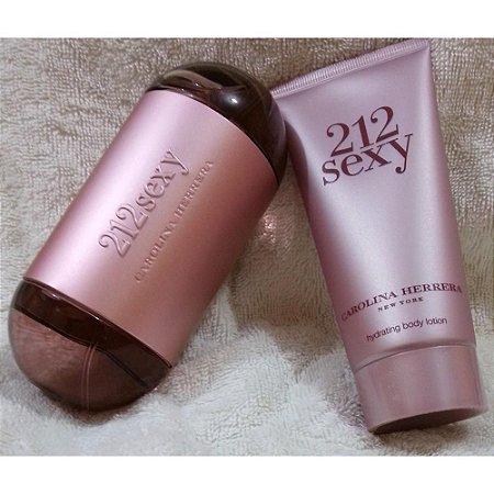 Kit 212 Sexy Feminino Pefume  Eau de Parfum 60ml + Body Lotion 75ml