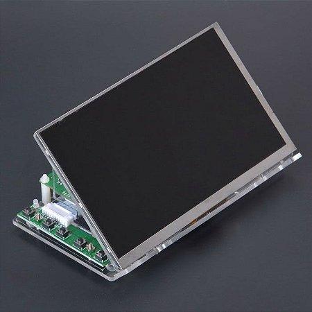 Kit de monitor de 7 polegadas e 1024 x 600-Entrada HDMI com suporte (sem Touch Screen)