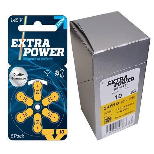 Caixa com Pilhas Auditivas Extra Power 10 (60 pilhas)