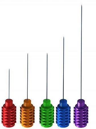 20 Eletrodos Agulha Monopolar Teflonada Sem Cabo