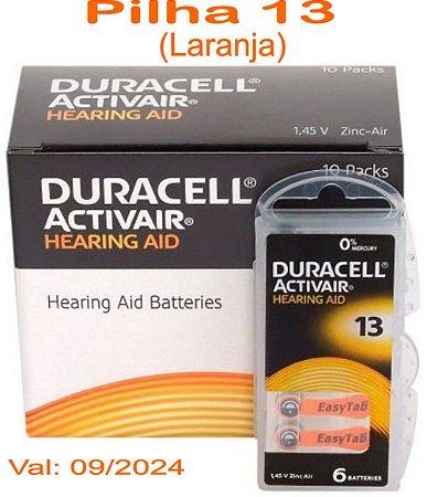 60 Pilhas Auditiva Duracell Activair 13 - PR48
