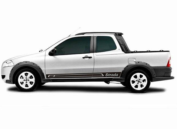 Kit Adesivo faixa lateral tuning  Fiat Pick-up Strada modelo Strada - verifique compatibilidade medida 1,85 metros.