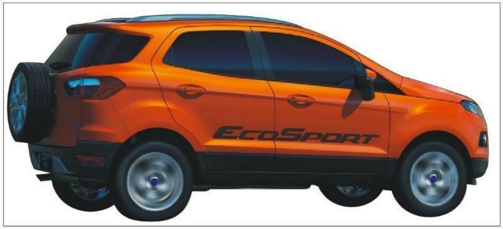 Kit Adesivo faixa lateral tuning Ford Nova EcoSport modelo EcoSport