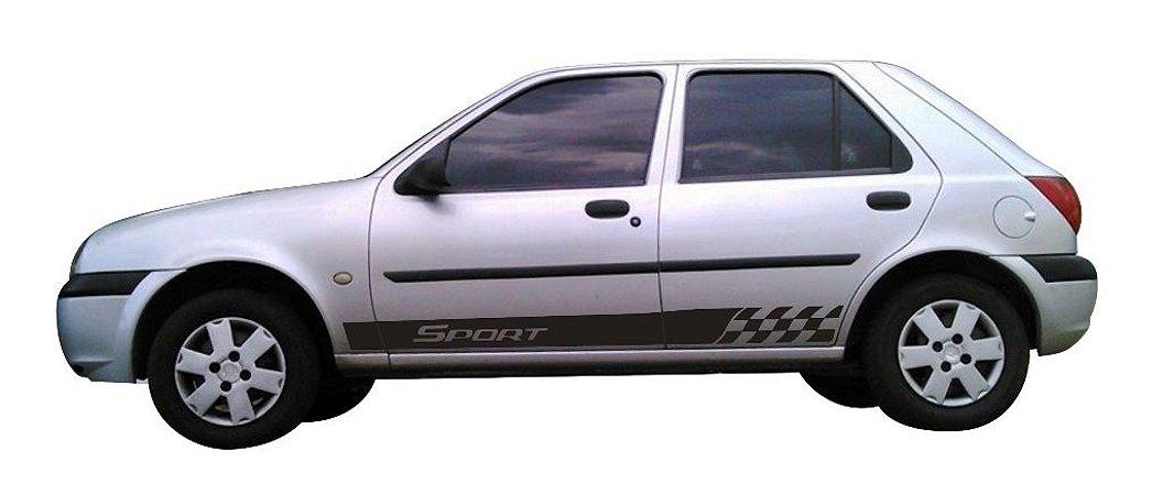 Kit Adesivo faixa lateral tuning Ford Fiesta G1 2 ou 4 portas modelo FIESTA Sport G1
