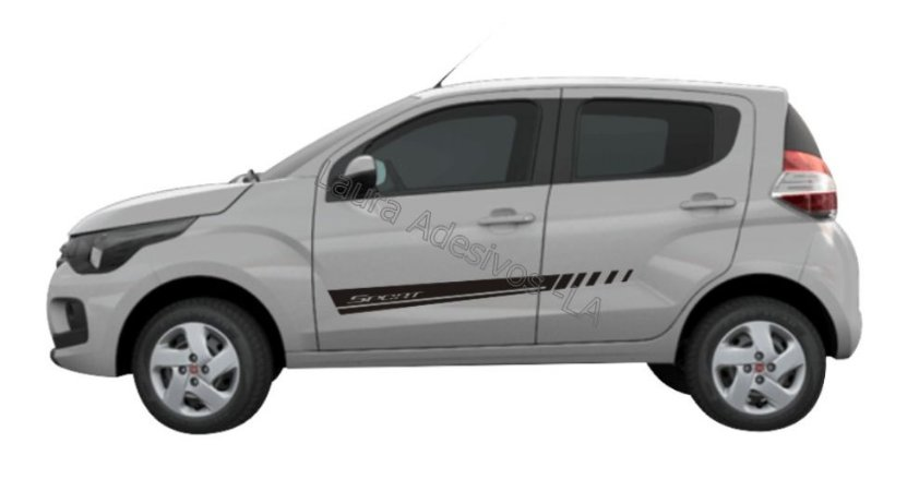 Faixa Lateral Fiat Mobi MB2 Adesivos Sport Acessório Fita Colante Srt Wolf 1