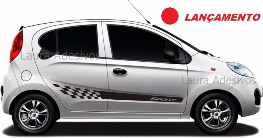Adesivo Faixa Lateral Chery New QQ Modelo NQ1 Fita Colante Acessórios SRT Wolf 1
