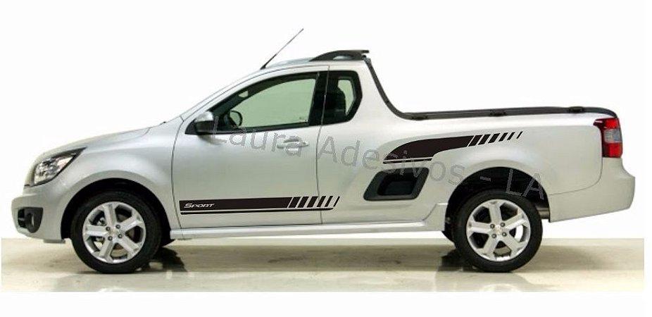 Nova Montana Kit Adesivo MB1 Sport Faixa Lateral Tuning Chevrolet Pick-up SRT Wolf 1 X11Auto