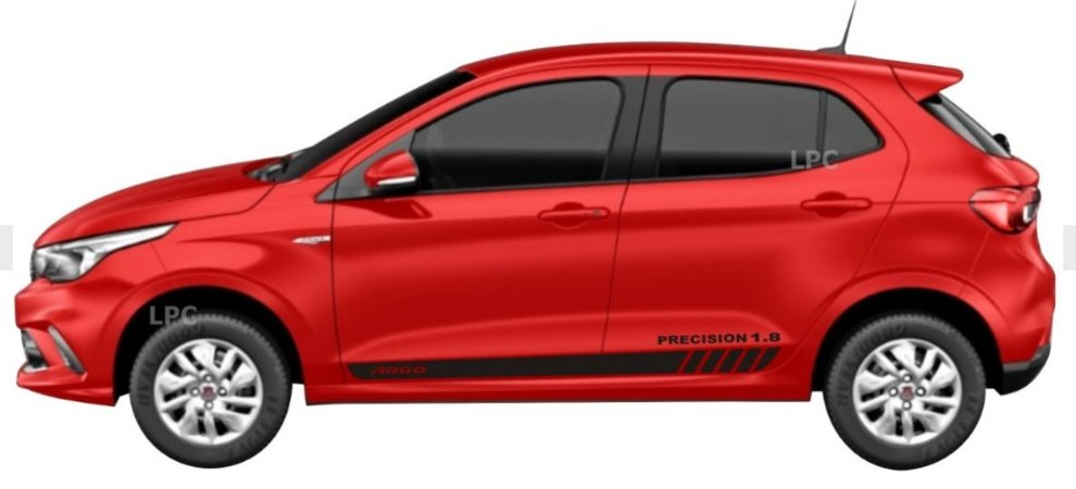 Argo AT6 e Precision 1.8 Faixa Lateral PR1 Adesivo Para Carro Fita Colante Acessórios SRT Wolf 1