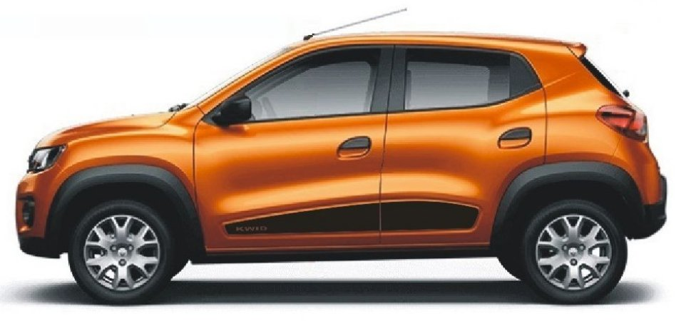 Kwid Renault Adesivo Lateral KW4 Faixa Fita Colante Acessórios SRT Wolf 1 X11Auto