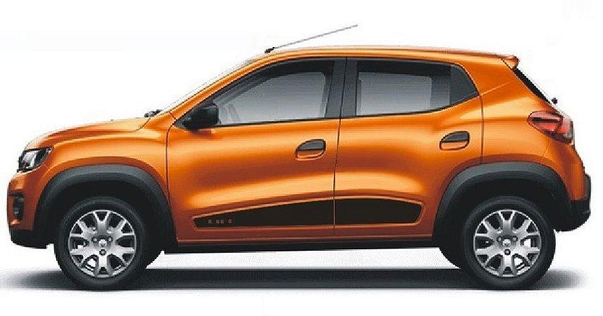 Kwid Life Renault Adesivo Lateral KW3 Faixa Fita Colante Acessórios SRT Wolf 1 X11Auto
