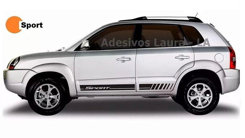 Tucson TS1 Hyundai Faixa Lateral Acessórios Fita colante adesiva SRT Wolf 1 X11Auto