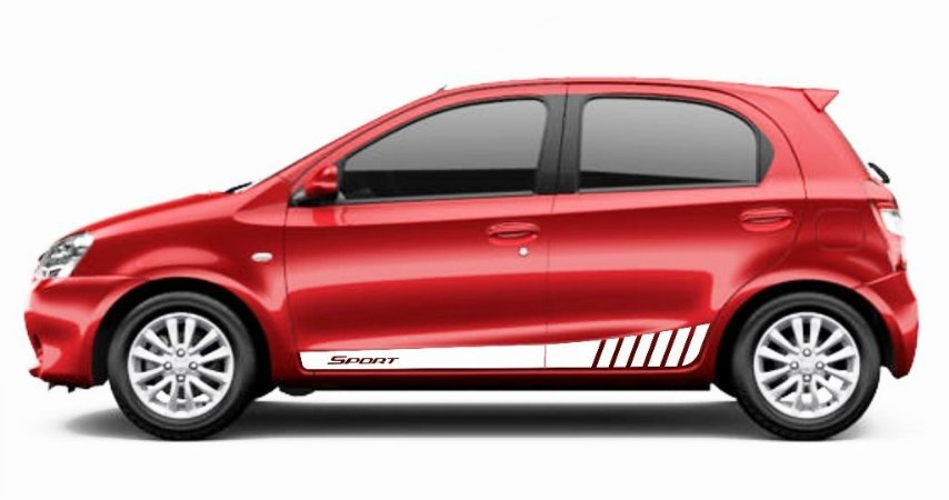 Kit Faixa lateral adesiva tuning Modelo Sport para Toyota Etios hatch peças acessórios