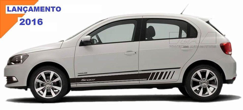 Kit adesivo Gol G5 G6 modelo GS2 Sport 4 portas VW faixa lateral tuning X11Auto