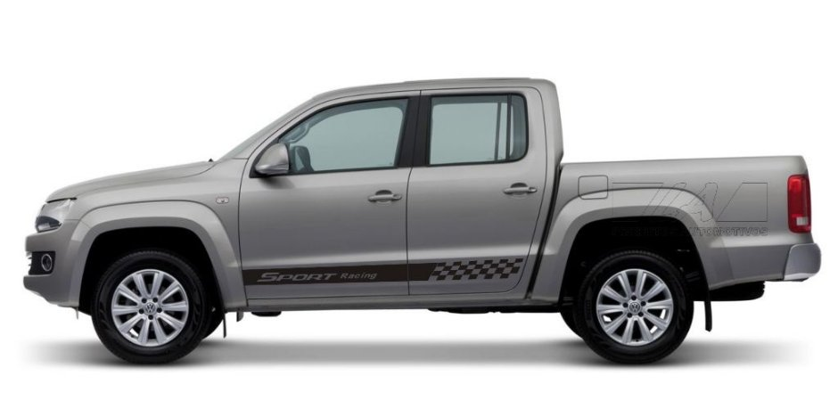 Kit Adesivo Vw Amarok cabine dupla Pick-up modelo Sr1 Sport Racing