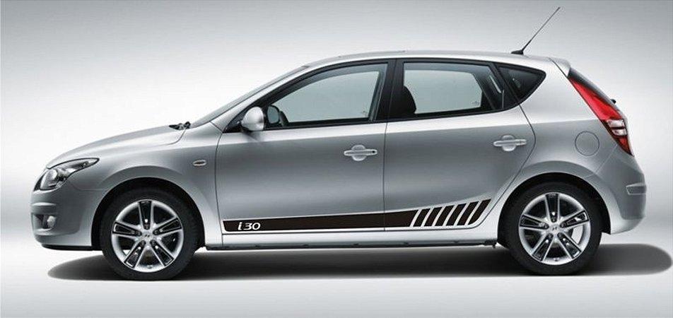 Kit adesivo lateral para Hyundai I30 modelo HY1