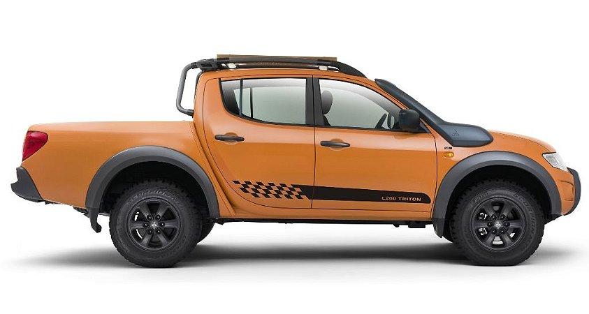 Adesivo lateral L200 modelo Lt1 Triton Mitsubishi Faixa Fita Colante SRT