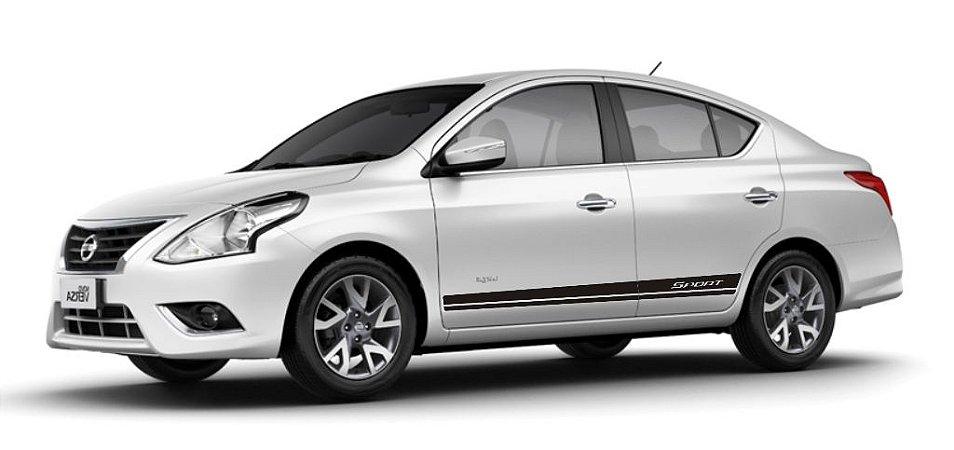 Acessórios Peças Adesivo lateral Versa Nissan modelo Sport lisa Faixa Fita Colante SRT