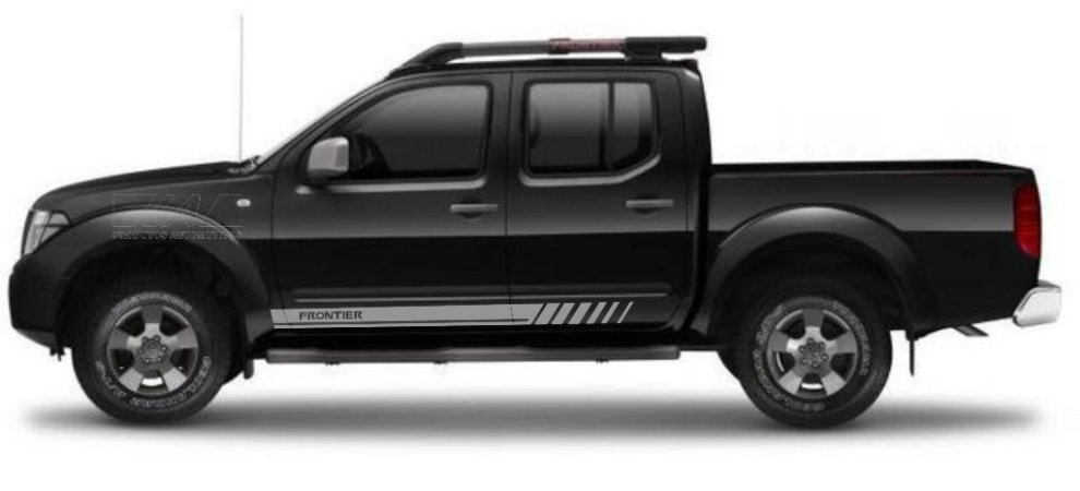 Kit Adesivo lateral Nissan Frontier Fr1 Pick-up cabine dupla