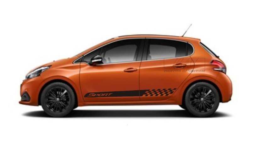 Kit Adesivo lateral Peugeot 208 Sport Ps3