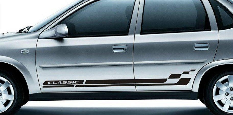 Faixa lateral adesiva Corsa sedan G1 modelo Classic