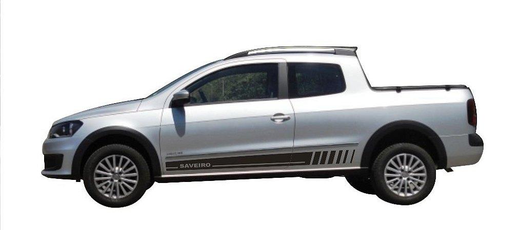 Kit Adesivo lateral Saveiro Cabine Dupla VW