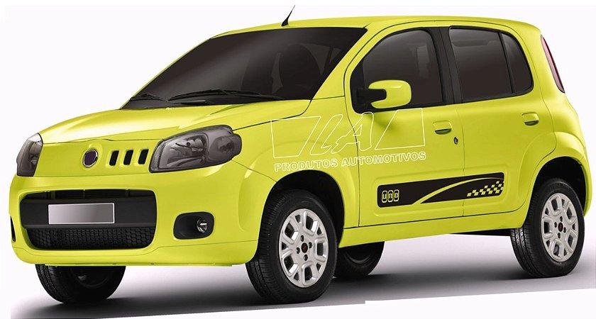 Kit Adesivo lateral Novo Uno Evo Vivace Fiat modelo 3