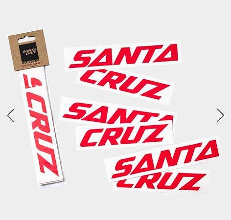 Adesivos para Customização do Quadro Santa Cruz