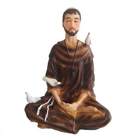 São Francisco de Assis Meditando 20 Cm