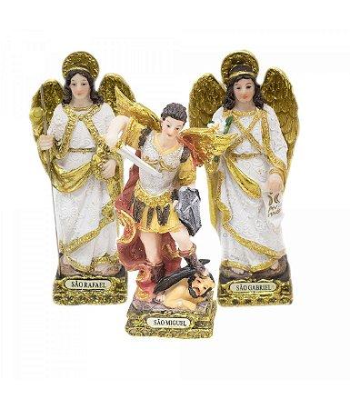 Três Arcanjos - Miguel Gabriel Rafael 13 CM