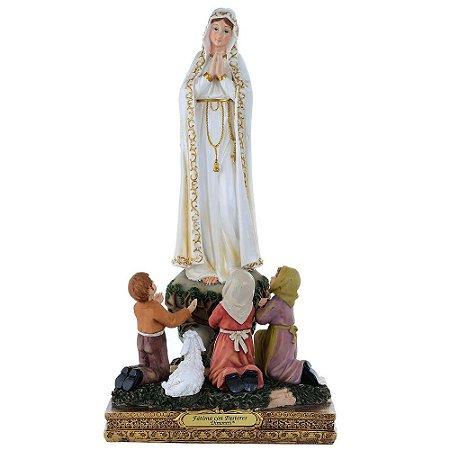 Nossa Senhora de Fátima com Pastores 30 CM
