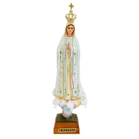 Nossa Senhora de Fátima Pintada 20 CM - Portugal