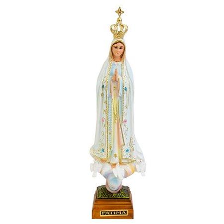 Nossa Senhora de Fátima Pintada 25 CM - Portugal