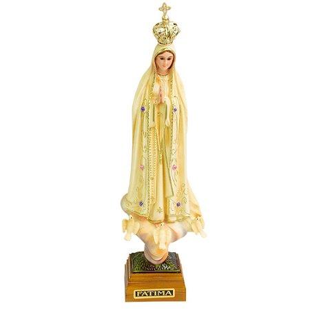 Nossa Senhora de Fátima Patinada 20 CM - Portugal