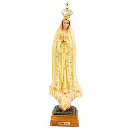 Nossa Senhora de Fátima Patinada 35 CM - Portugal