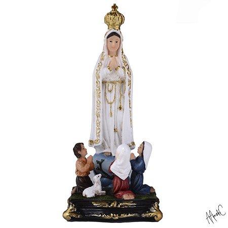 Nossa Senhora de Fátima com Pastores 14 CM