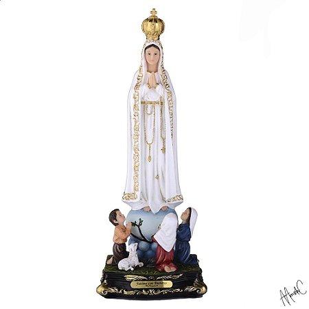 Nossa Senhora de Fátima com Pastores 45 CM
