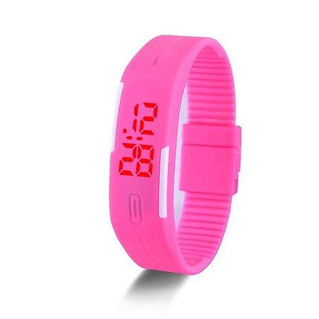 f5326759ba6 Relógios Doce Cor de Borracha de Silicone Touch Screen Relógios Digitais