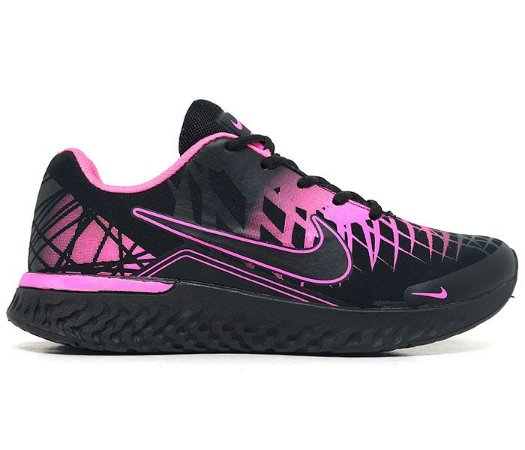 2618017a07 Tênis Feminino Nike Air Turno Preto e Pink - TGfeshion