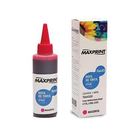 Refil de Tinta Maxprint Compatível/ No. TO63 - MAXPRINT - TO63320 - Magenta