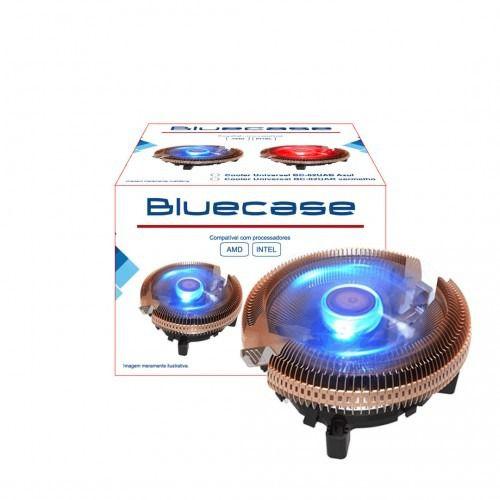 Cooler para Processador Bluecase AMD/Intel Alumínio com LED Azul - BC-02UAB