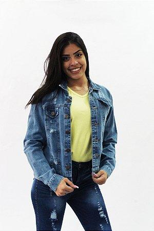 Jaqueta Jeans Feminina Destroyer Mih