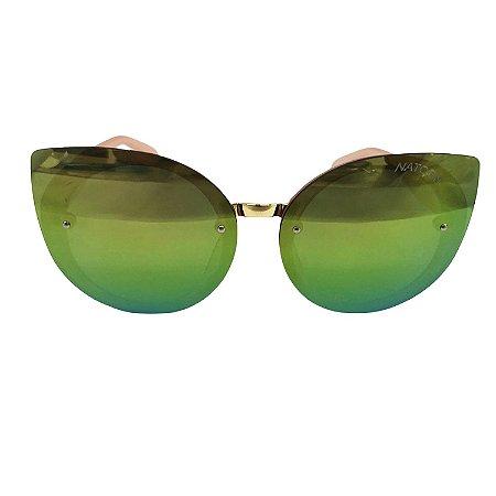 Óculos de Sol Unissex Espelhado tons de Verde