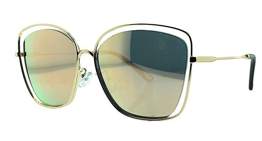 Óculos Solar Feminino Espelhado Primeira Linha 31127 - Loja ... 213a7c92c1