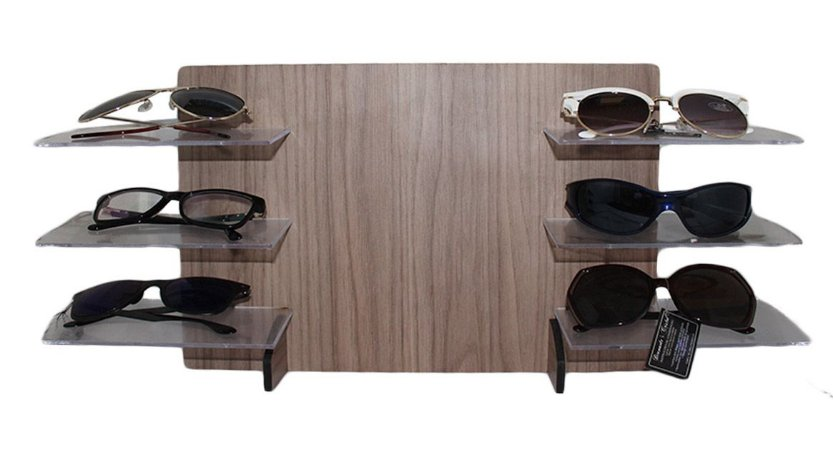 Expositor para 6 Óculos em MDF MAX6MDF Marrom