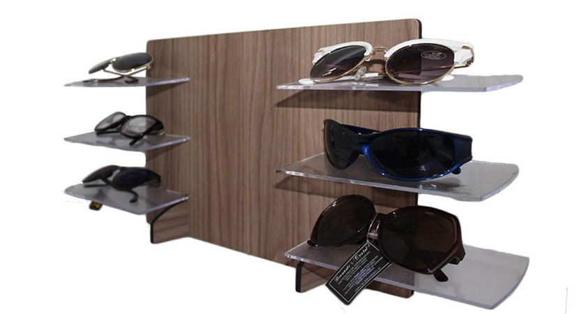 Expositor de Madeira para Óculos 6 Lugares MAX6MDF