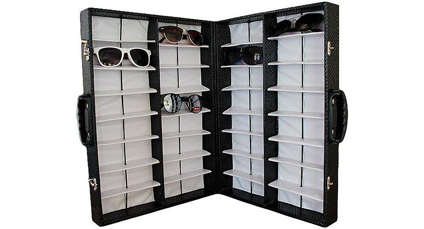 Maleta Expositora Dupla com Alça para 32 Óculos MS32C