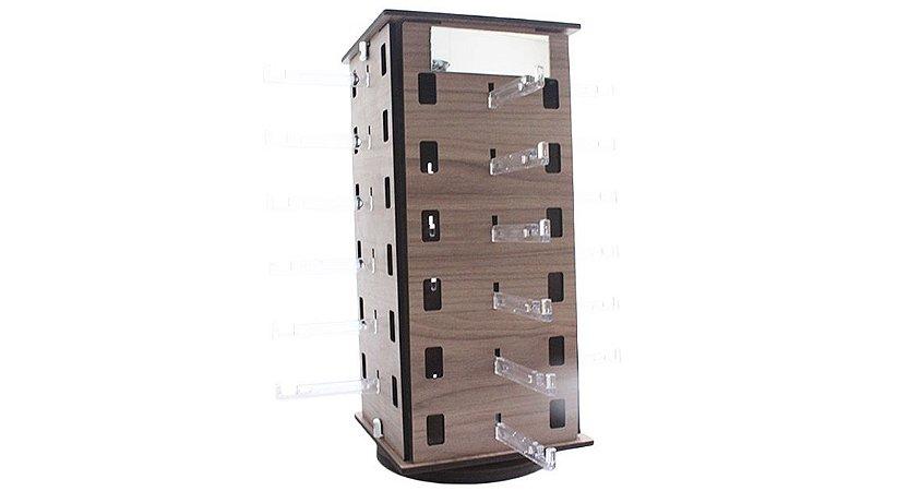 Expositor Torre Giratório para 24 Óculos em MDF 24MDF