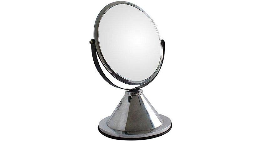 Espelho de Aumento 5X Dupla Face DF Cromado