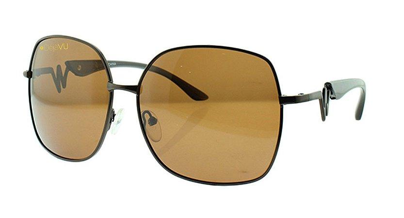 Óculos Solar Feminino Polarizado 20628R com Estojo Déjàvu